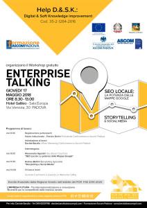 locandina workshop Enterprise talking